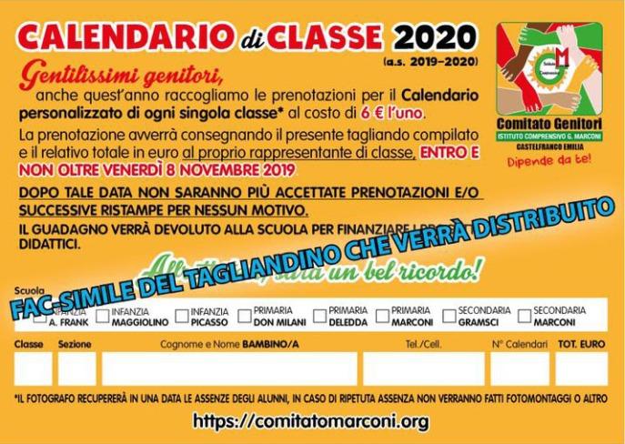 Modulo Calendario 2019/2020